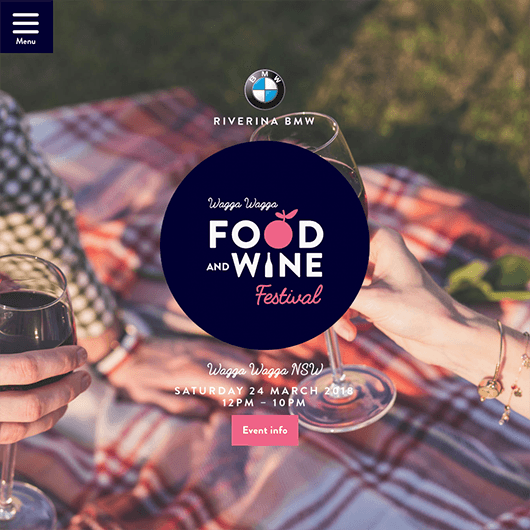 Wagga food and wine festival web design